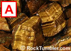 Gold Tiger's-Eye Tumbling Rough