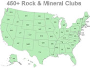 Rock and mineral clubs across the U.S.