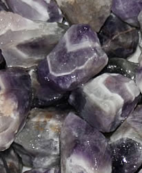 banded amethyst rough