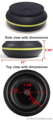Bowl for Thumler's UV-45 vibratory tumbler
