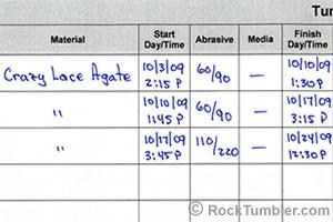 rock tumbler log