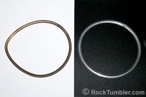 stretched rock tumbler belt