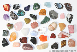40 different tumbled stone collections