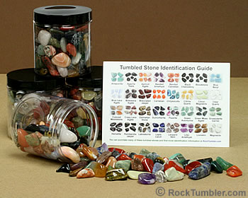 Large jar of tumbled stones