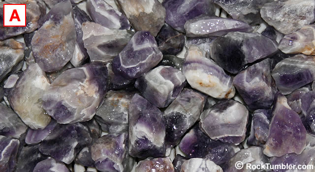 Banded Amethyst tumbling rough