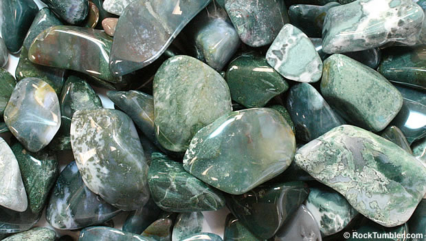Polished green jasper