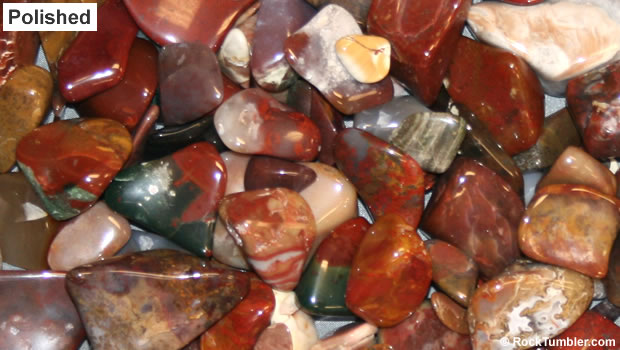 Polished mixed jasper