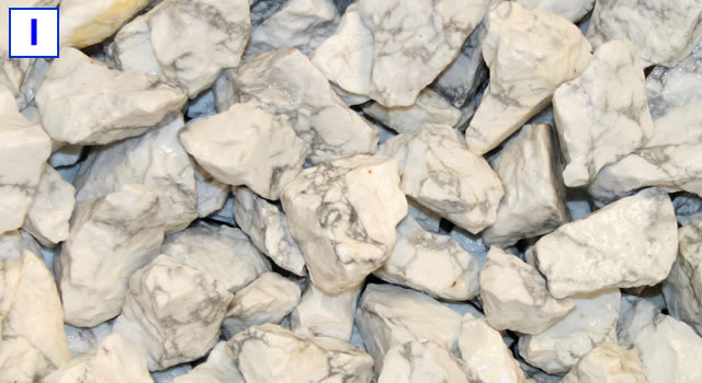 Magnesite tumbling rough