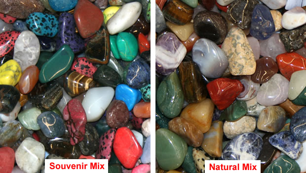 Tumble polished stones