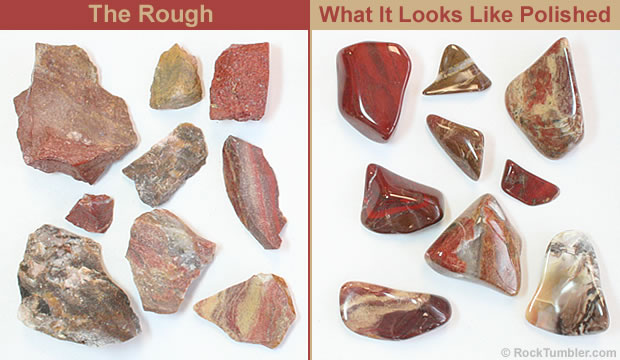 Polychrome Jasper Red Brown Tan And Pink Tumbling Rough