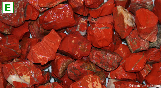Red jasper tumbling rough