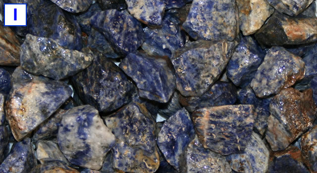 Sodalite tumbling rough
