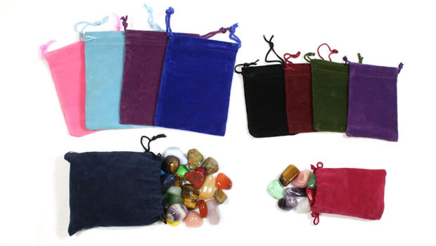 velour treasure bags