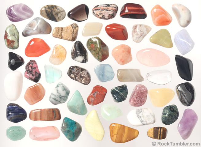 50 Different SemiPrecious Tumbled Stones Collection