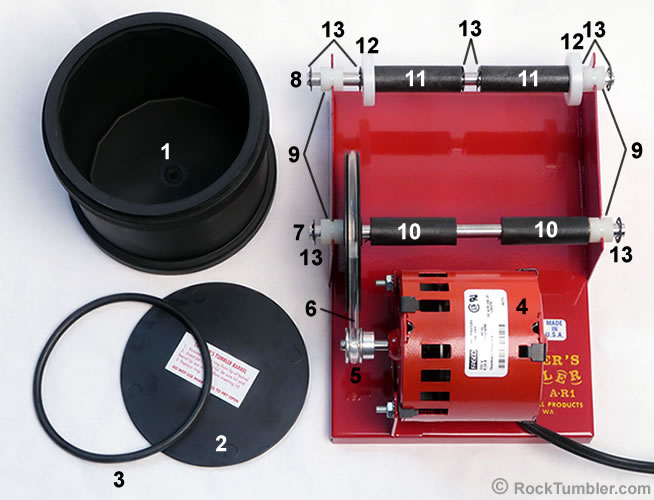Thumler's A-R1 tumbler parts diagram