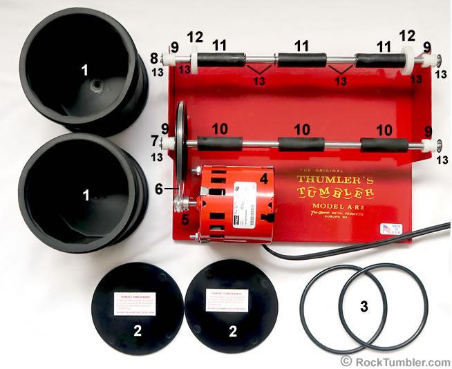 A-R2 tumbler parts diagram