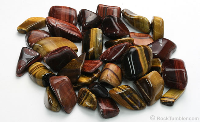 Polished tiger eye