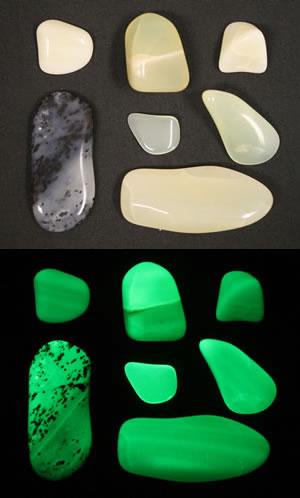 Fluorescent opal