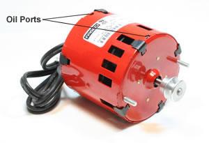 Oil ports on Thumler's tumbler motor