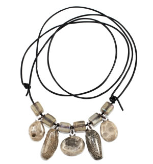Petoskey stone necklace