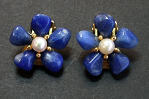 Swoboda lapiz lazuli and pearl earrings