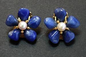 Swoboda lapiz lazuli and pearl earrings