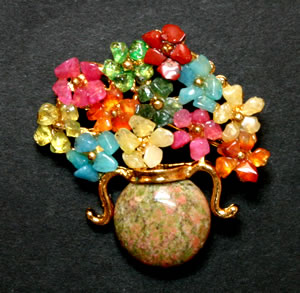 Swoboda flower pot brooch
