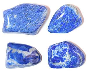 Tumble polished lapis lazuli