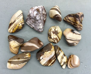Zebra jasper after coarse grit