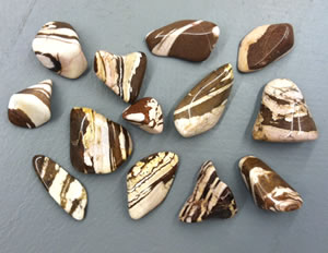 Polished zebra jasper