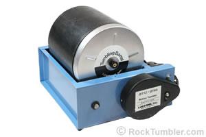 A Lortone QT-12 rotary rock tumbler