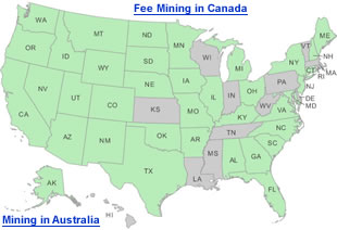 Fee mining collecting map