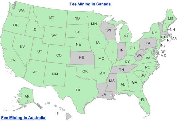 Fee mining and digging locations