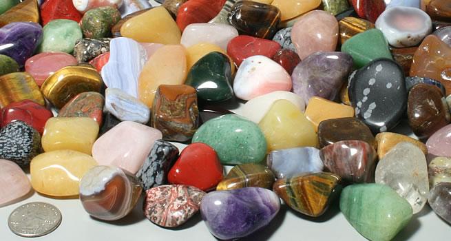 Extra large polished stones
