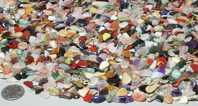 Extra small polished stones