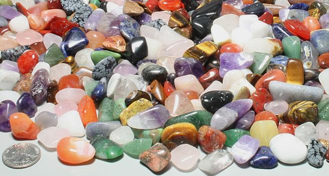 Medium polished stones