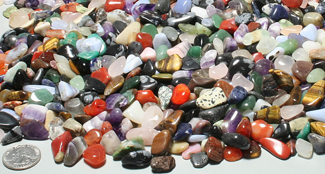 Small polished stones