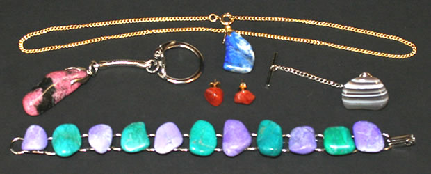 Making gemstone jewelry keychain earring necklace tie tack jewelry kits for tumbled gemstones mozeypictures Images