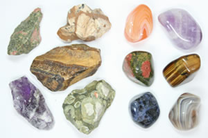 tumbler rough and polished stones
