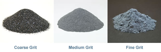 Rock tumbling grit