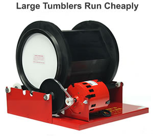 large tumblers are less expensive to operate
