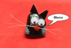 Snowflake Obsidian cat